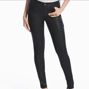 White House Black Market Coated Leather Skinny